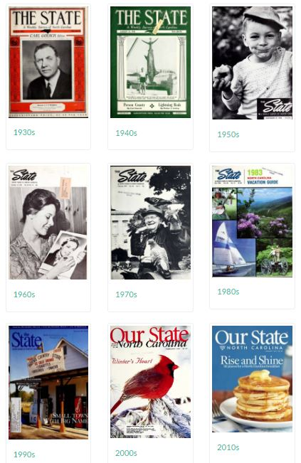 Visit the Our State Online collection at the North Carolina Digital Collections here.