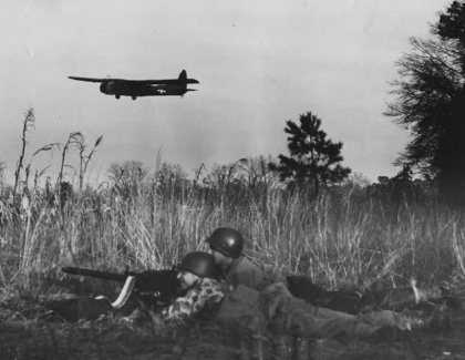Airborne troops training at Laurinburg-Maxton Air Force Base during World War II. Image from the N.C. Museum of History