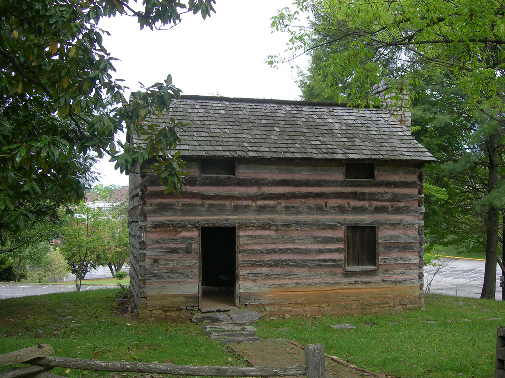 Photograph of the replica of the State of Franklin's capitol building