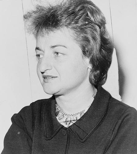 This is a photograph of Betty Friedan from 1964.