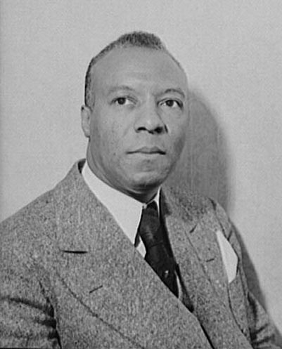 This is a 1942 photograph of A. Philip Randolph, civil rights activist. From the Library of Congress.