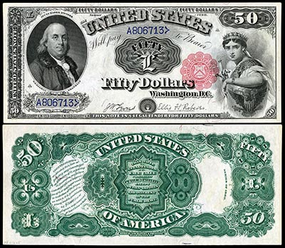 This is an image of a United States $50 Banknote