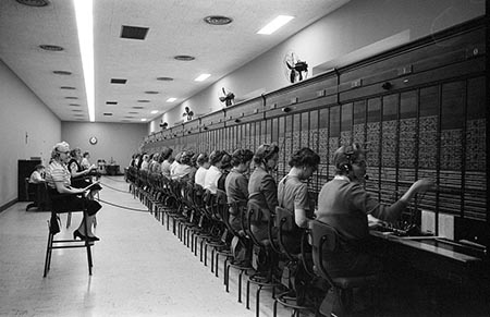 Women working at the U.S. Capitol switchboard, Washington, D.C. 1959