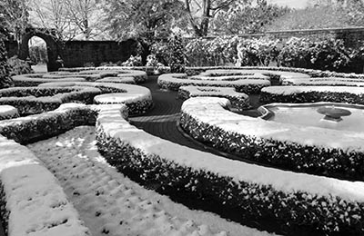 This is an image of the gardens at Tryon Palace from the 2013 Annual Report.