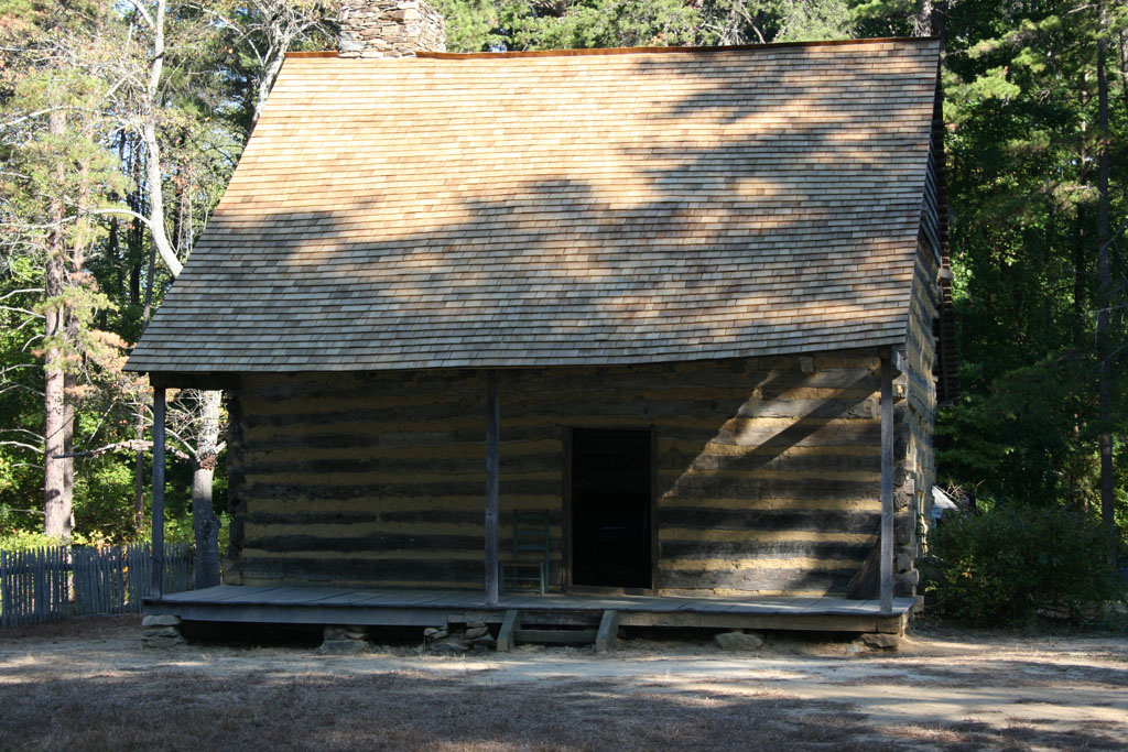 The Allen House, a log home occupied by Rachel and John Allen and their family in the late 1700s