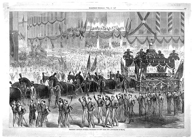 Illustration of President Lincoln's funeral procession.