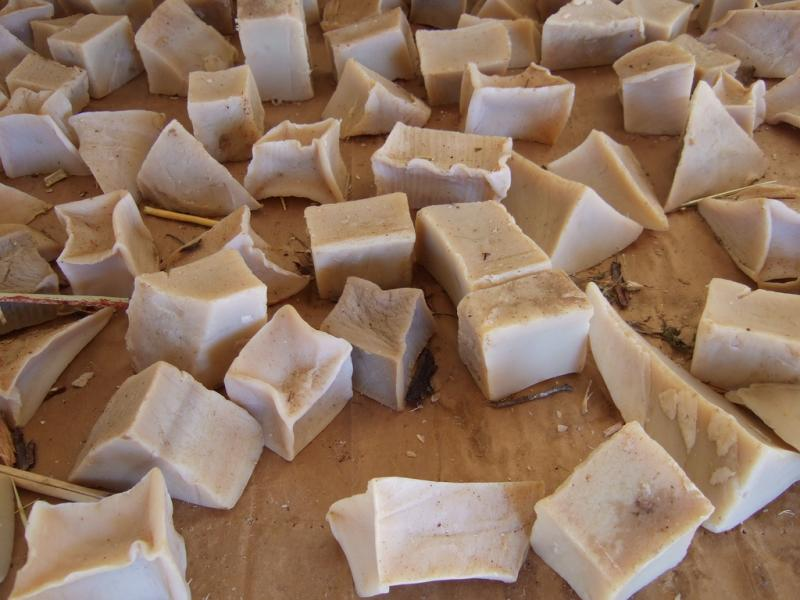 Chunks of Lye Soap