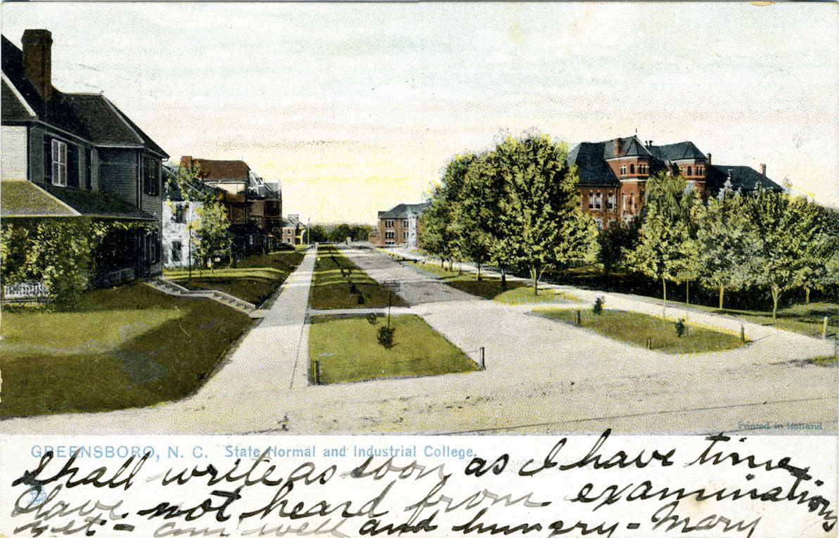 Postcard showing the State Normal and Industrial College