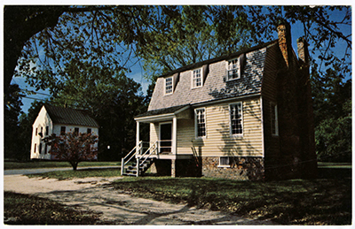 The Owens House was built circa 1760 in Halifax and is one of the oldest standing structures in the city located on the Roanoke River. Postcard image courtesy of UNC Libraries.