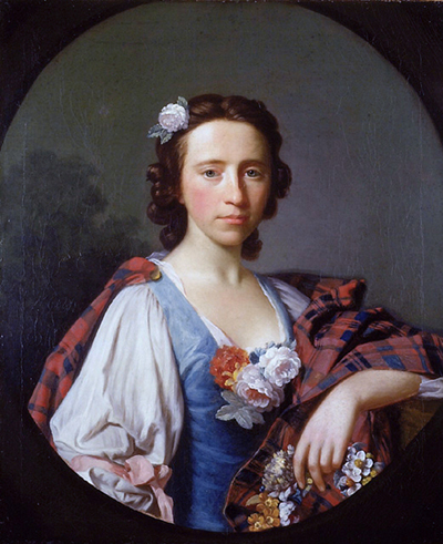 Portrait of Flora MacDonald completed in 1749. MacDonald immigrated to North Carolina from Scotland in 1774 and settled in what is now known as Montgomery County. Courtesy of Wikimedia Commons.