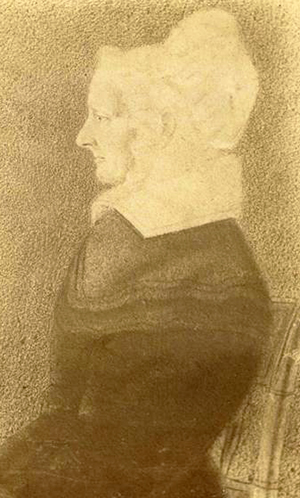 "A photograph of a drawing of Mary ""Polly"" Williams Burke, the only child of governor Thomas Burke."