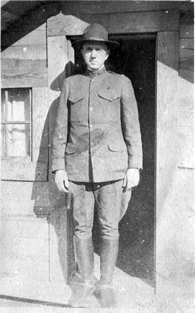 Dr. Hodge A. Newell in his U.S. Army uniform, believed to have been taken while he was stationed in France during World War I. From the collection of the State Archives of North Carolina.  Used with permission.