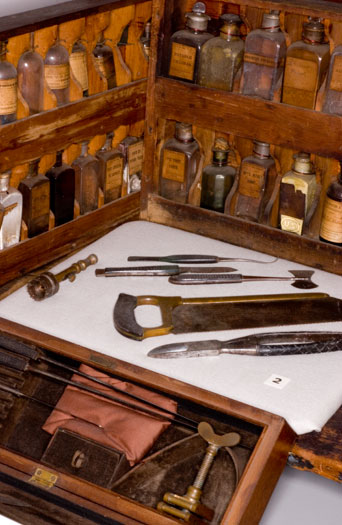 Surgical tools of Dr. Newsom Jones Pittman. Image from the North Carolina Museum of History.