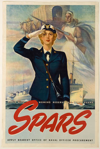 """SPARS"" recruiting poster, from the U.S. Office of Naval Officer Procurement, 1942. Item WV0002.7.052, Women Veterans Historical Project, University Libraries Special Collections, UNC-Greensboro."