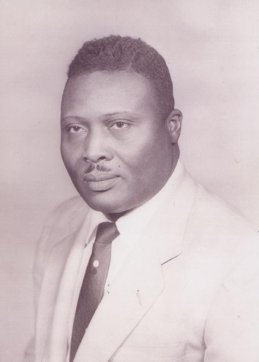 Photograph of Dr. Andrew A. Best, prominent Greenville physician and civil rights leader, circa 1960. Image is courtesy of East Carolina University's Laupus Health Sciences History Collections and is for use only in research, teaching and private study.