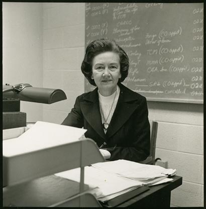 Photograph of Grace Collins Boddie, 1970. Imaged provided by Duke Law Magazine. The photograph appeared in the Fall 1997 issue. Used by permission.