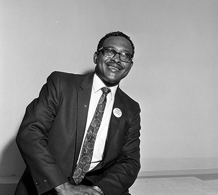 Reginald A. Hawkins, Democratic candidate for Governor, November, 1968. From the Edward J. McCauley Photographic Materials (P0082), North Carolina Collection Photographic Archives, The Wilson Library, University of North Carolina at Chapel Hill. Used with permission.