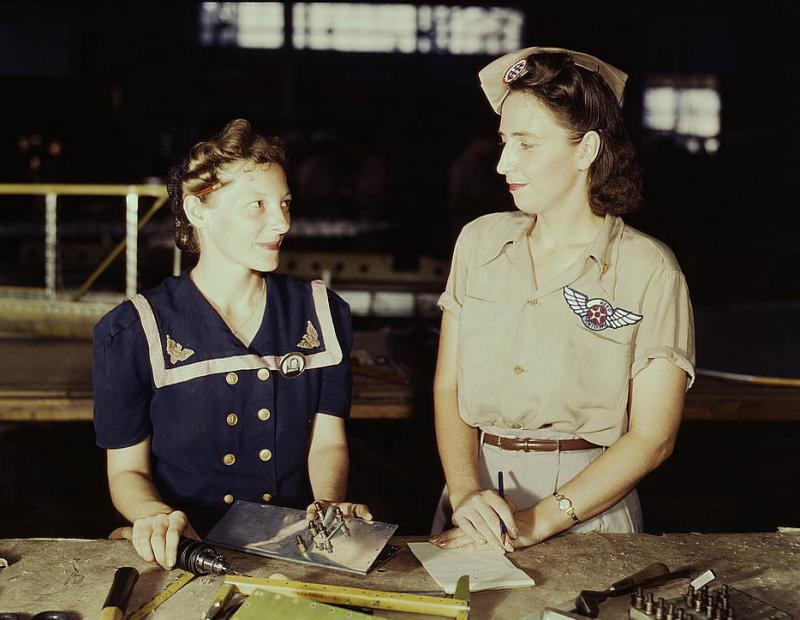 Pearl Harbor widows at work