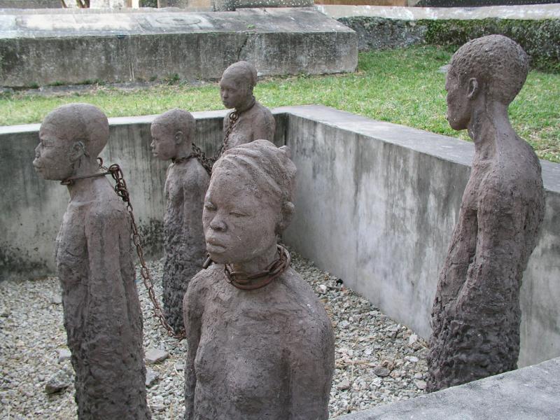 Slave trade memorial at Zanzibar