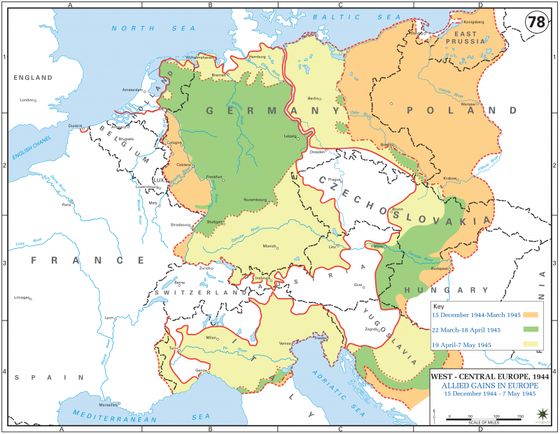 Allied gains in Europe, 15 December 1944-7 May 1945