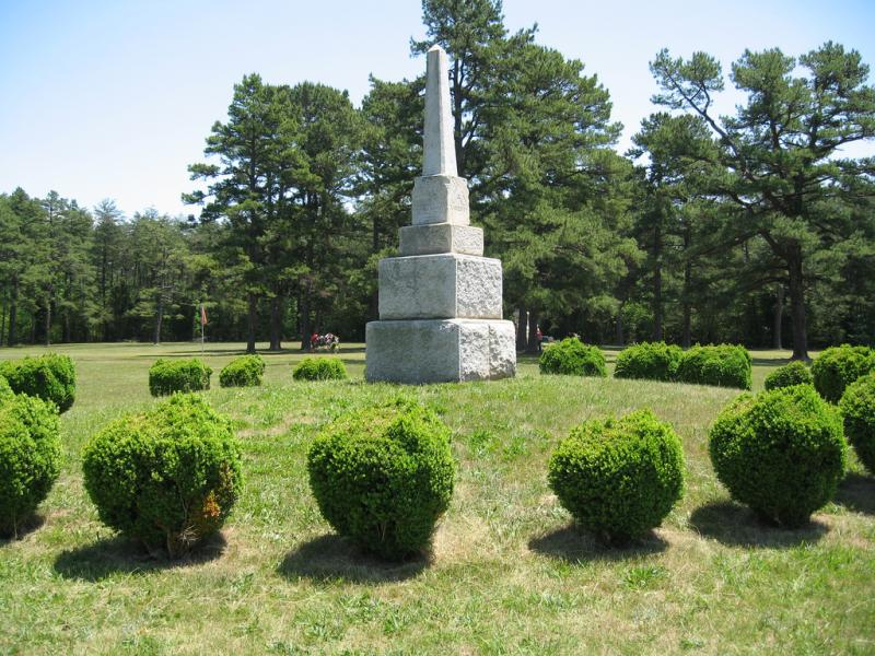 A monument at the Alamance Battleground