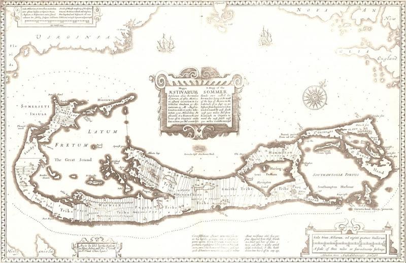 John Speed's 1676 map of Bermuda