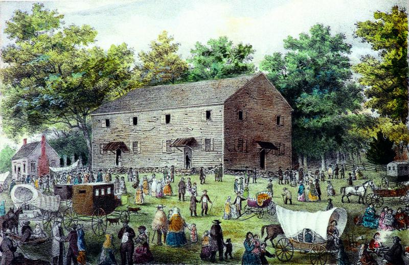 Friends Meeting House painting