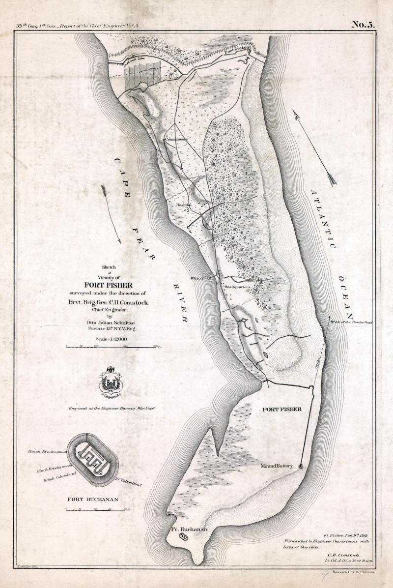 """<img typeof=""""foaf:Image"""" src=""""http://statelibrarync.org/learnnc/sites/default/files/images/cw0315000.jpg"""" width=""""1606"""" height=""""2400"""" alt=""""Sketch of the vicinity of Fort Fisher"""" title=""""Sketch of the vicinity of Fort Fisher"""" />"""