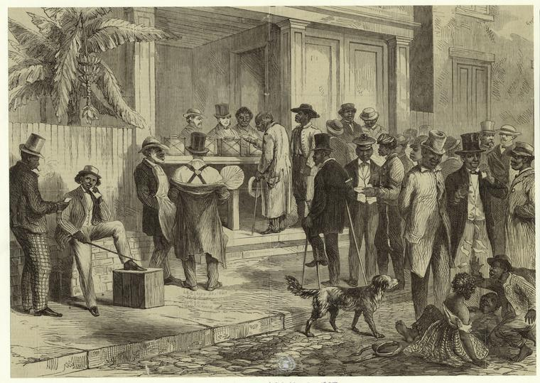 Freedmen voting