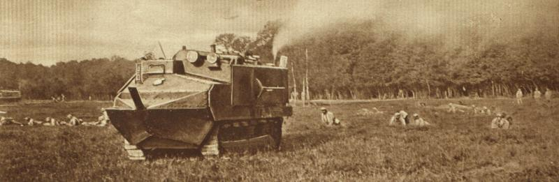 A French tank on the move