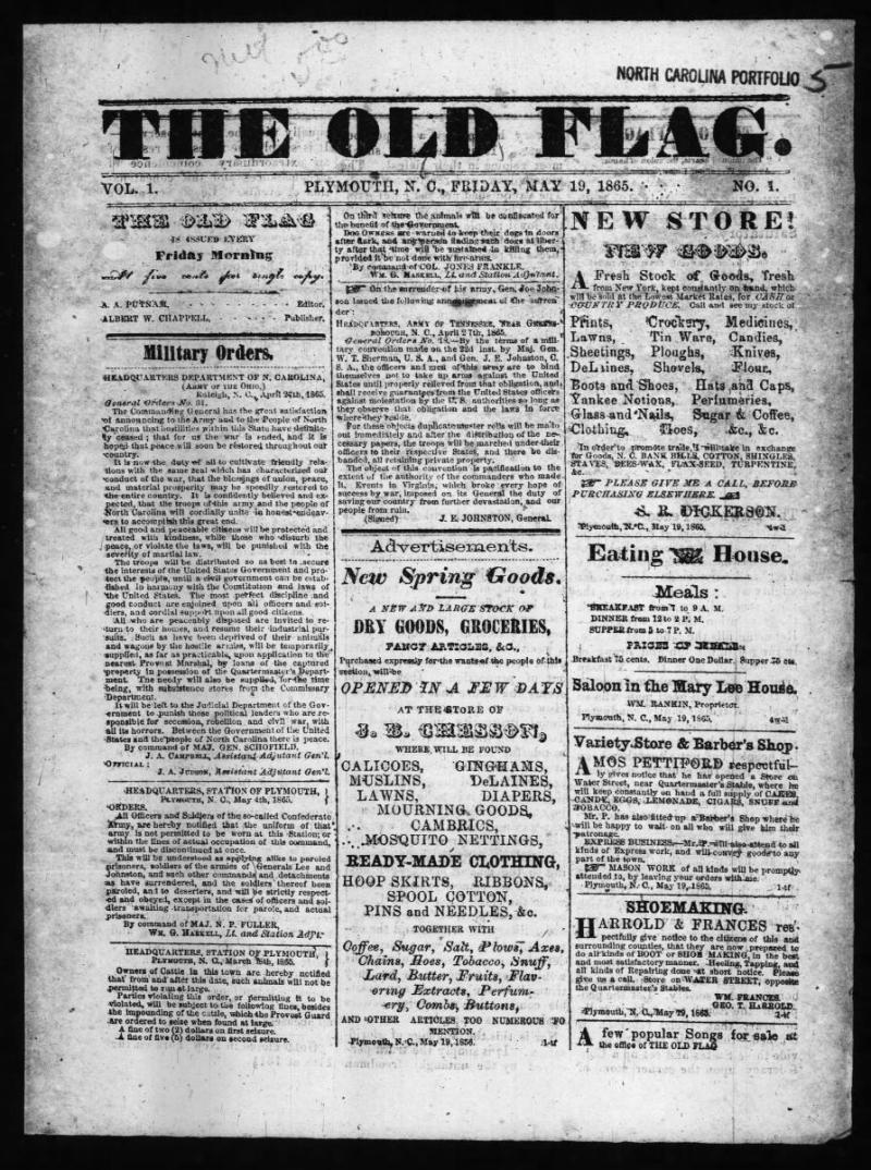 The Old Flag, May 26, 1865