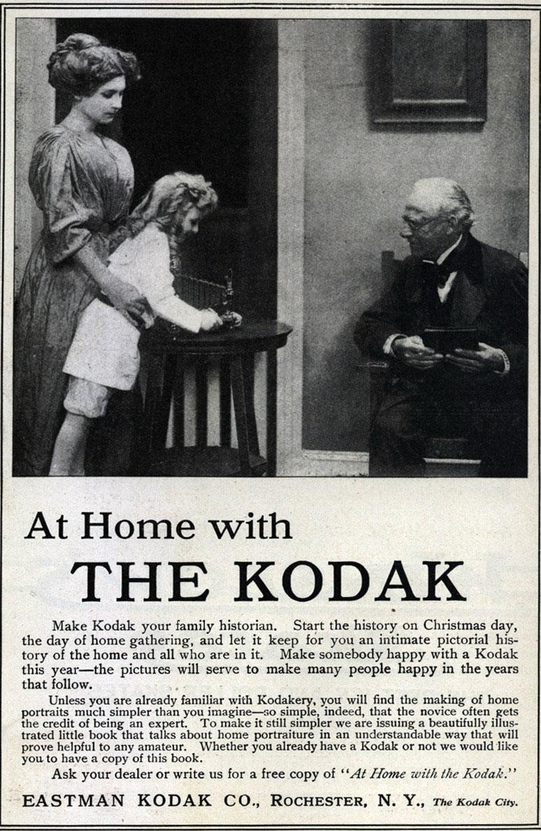 "<img typeof=""foaf:Image"" src=""http://statelibrarync.org/learnnc/sites/default/files/images/kodak_ad.jpg"" width=""774"" height=""1189"" alt=""Magazine advertisement for Kodak cameras, 1910"" title=""Magazine advertisement for Kodak cameras, 1910"" />"
