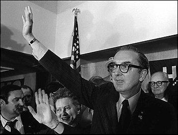 Jesse Helms celebrates his victory, 1972