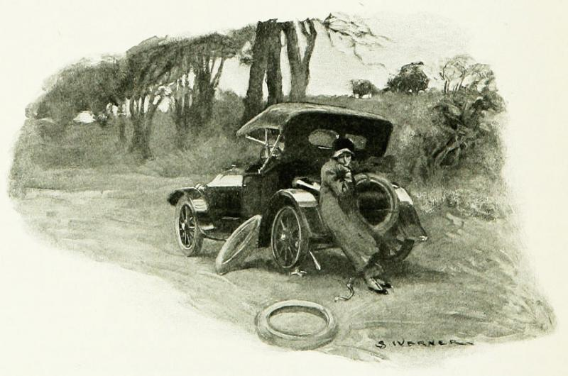 """<img typeof=""""foaf:Image"""" src=""""http://statelibrarync.org/learnnc/sites/default/files/images/p220.jpg"""" width=""""855"""" height=""""566"""" alt=""""A woman with a flat tire, 1915"""" title=""""A woman with a flat tire, 1915"""" />"""