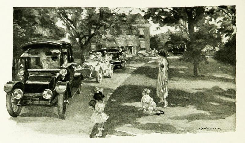 """<img typeof=""""foaf:Image"""" src=""""http://statelibrarync.org/learnnc/sites/default/files/images/p222.jpg"""" width=""""883"""" height=""""518"""" alt=""""Cars leaving a suburban home, 1915"""" title=""""Cars leaving a suburban home, 1915"""" />"""