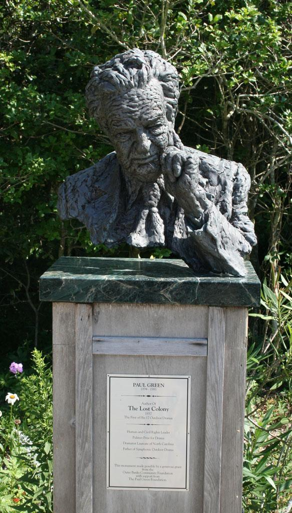 Bust of Paul Green at Waterside Theatre, Manteo