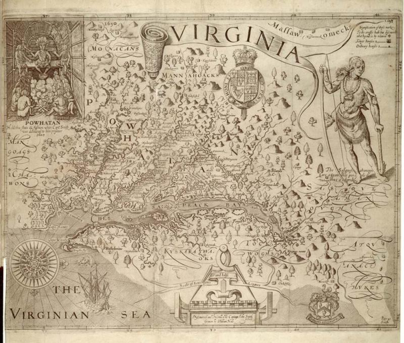 John Smith's map of Virginia, 1624