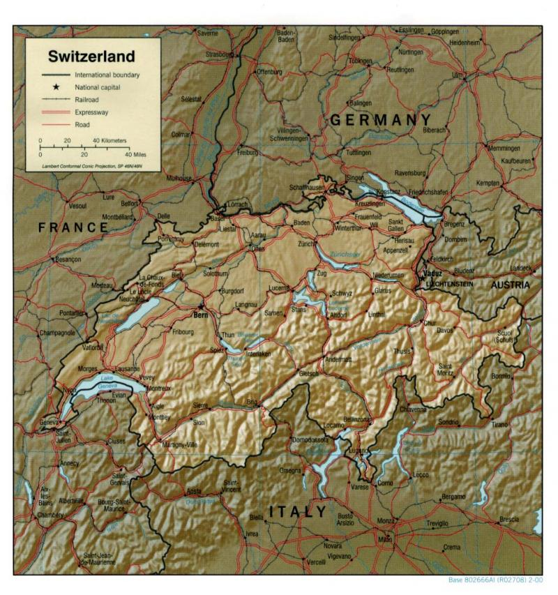 Switzerland (relief map)