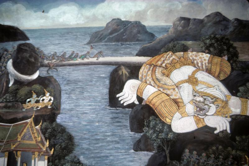 "<img typeof=""foaf:Image"" src=""http://statelibrarync.org/learnnc/sites/default/files/images/thai_rama_124.jpg"" width=""1024"" height=""683"" alt=""Giant Hanuman uses his tail as bridge for Rama's army"" title=""Giant Hanuman uses his tail as bridge for Rama's army"" />"