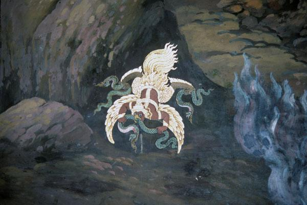 "<img typeof=""foaf:Image"" src=""http://statelibrarync.org/learnnc/sites/default/files/images/thai_rama_158.jpg"" width=""600"" height=""400"" alt=""Garuda king attacks three serpents"" title=""Garuda king attacks three serpents"" />"