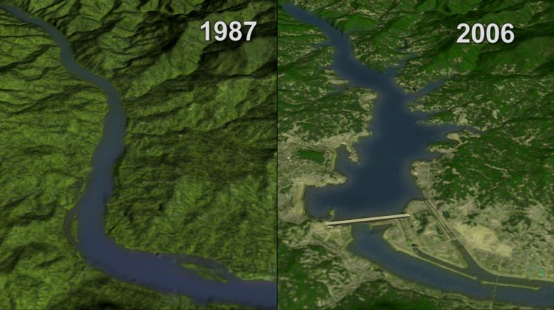 "<img typeof=""foaf:Image"" src=""http://statelibrarync.org/learnnc/sites/default/files/images/three_gorges.jpg"" width=""1024"" height=""573"" alt=""Split-screen image of the Yangtze River in China before the Three Gorges Dam and after it."" />"
