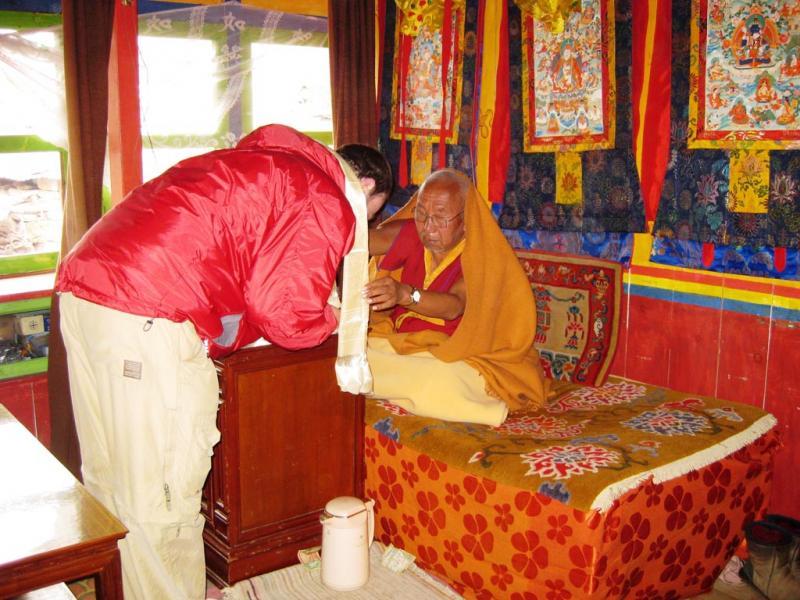 "<img typeof=""foaf:Image"" src=""http://statelibrarync.org/learnnc/sites/default/files/images/trek35-resize.jpg"" width=""1024"" height=""768"" alt=""Blessing at Tengboche Monastery"" title=""Blessing at Tengboche Monastery"" />"