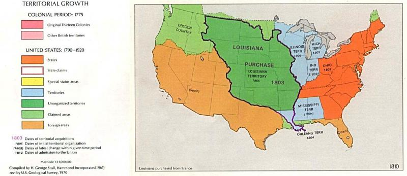 U.S. territorial growth, 1810