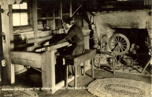 """<img typeof=""""foaf:Image"""" src=""""http://statelibrarync.org/learnnc/sites/default/files/images/weaving1.jpeg"""" width=""""531"""" height=""""339"""" alt=""""Weaving on an old wooden loom"""" title=""""Weaving on an old wooden loom"""" />"""