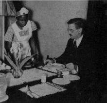 Professor Wallace Caldwell (1890–1961) with unnamed domestic