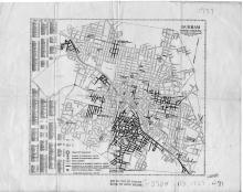 1937 Bureau of Public Works map of Durham, N.C.