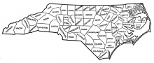 North Carolina counties, 1840