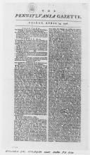 Pennsylvania Gazette, April 24, 1778