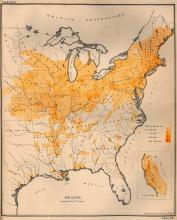 This 1872 map shows the distribution of per capita (per person) wealth in the United States.
