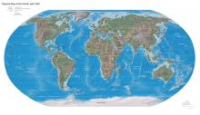 Physical map of the world, 2007